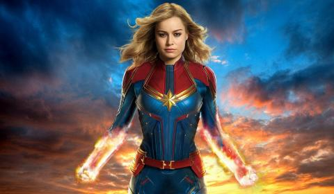 Captain Marvel Homepage Slider